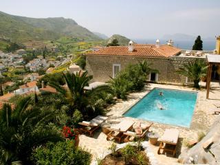 Luxury 6 bedroom Hydra villa pool stunning views