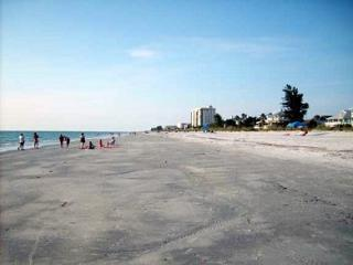 View looking down the beach