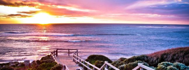 A short walk to watch the sun set at Surfers Point, Margaret River
