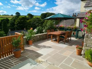 Our unrivalled outdoor dining area has superb views