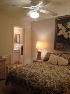 Master bedroom with private bath and flatscreen TV