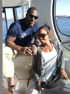 San Diego Charger's Takeo Spikes cruises with Zolna Yacht Charters!