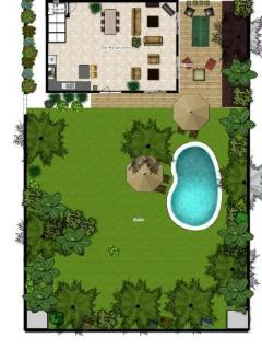 Villa Maya Legian Floor Plan - Ground Level