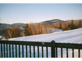 View from back porch during snowmaking