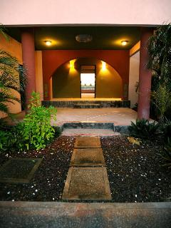 Courtyard entrance to house and Pool