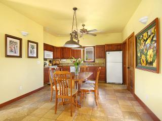 Ahe Lani dining area with seating for six is comfortably close to the kitchen.