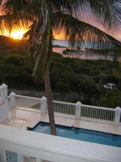 Sunset view from second bedroom