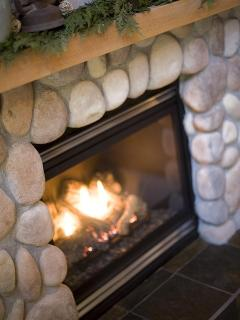 Warm yourself by our fireplace