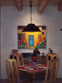 The Casita's separate dining area is perfect for intimate dinners.