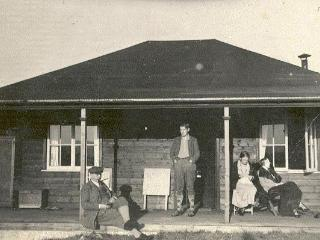 Rowan Cottage in the 1930's. Great Uncle, Father and other relatives enjoy the sunshine!