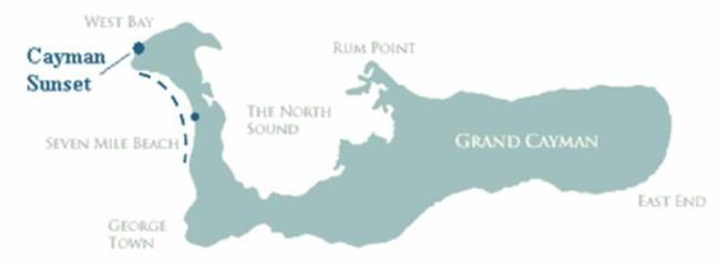 Map of Cayman Sunset