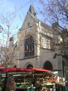 Great location: lower Mouffetard Market on Place Saint Médard