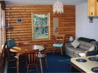 livingroom log cottage