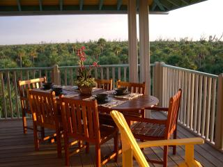 Veranda Dining with gulf and preserve views