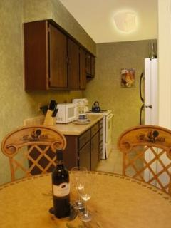 Fully equipped kitchen including microwave.Unit B has no dishwasher. A & C updated with dishwasher .
