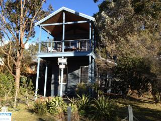 The Boathouse at Winda Woppa Hawks Nest. Beach house with wonderful water views