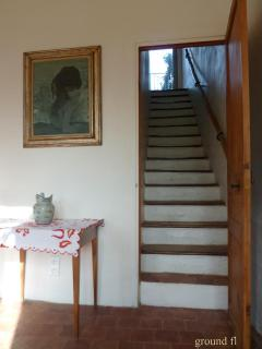 Stairs up from the living room