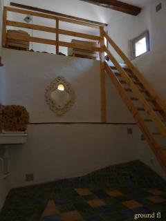 Ground fl, off TV room is an additional space with a MEZZANINE sleeps 1 (sometimes 2) adolescents