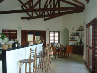 Bularangi Villa kitchen and dining area