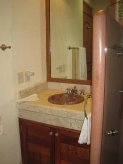 Second Bathroom with walk-in shower.