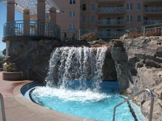 waterfall pool and oceanfront gazebo