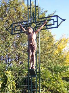 The Cross by the garden