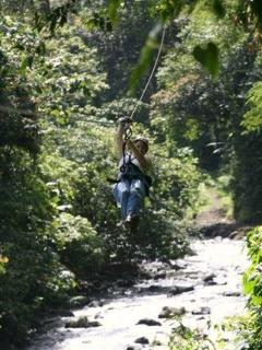 On the zipline