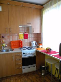 Separate kitchen, fully equipped.