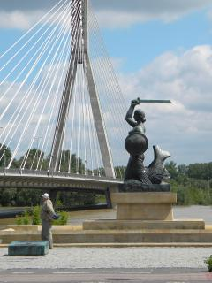 Symbol of Warsaw by the river - 150m.