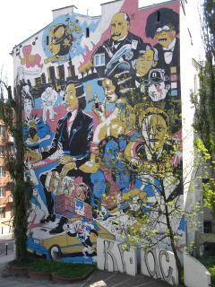 Murals close to F.Chopin Museum.