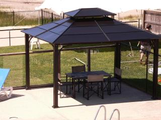 Plenty of Shade offered with our many pergolas!  GATED lot!
