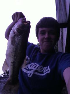 The fishing can be world class as evidenced by the trophy 5 lb bass caught 6/28/12 by our friend J!