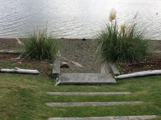 steps from backyard to beach