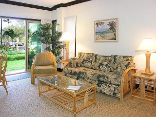 Waipouli #A-103:  Ground Floor 2bdr/3bath, Old Hawaii with Bamboo motif, Kapaa