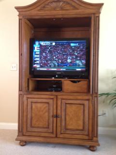 Living Room Entertainment Center (TV, DVD and X-Box 360)