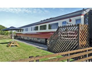 CONVERTED RAILWAY CARRIAGE, family friendly, character holiday cottage, with a g