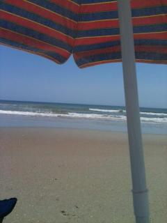 Your view under an umbrella at the beach