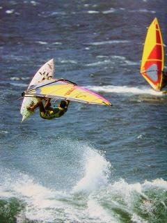 Windsurfers - close to Mama's Fish House