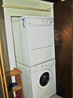 Stacking front load washer & dryer