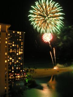 Fireworks from Lanai