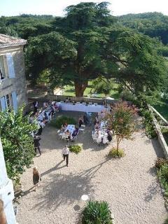 Terrace On Wedding Day