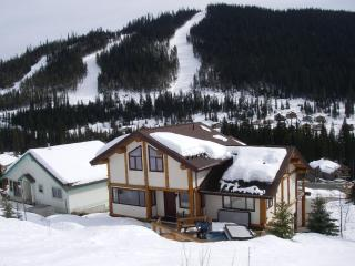 The Kodiak Timber Lodge backs onto Connector Run