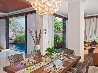View from dining to the 10x4 metres swimming pool with pool side decks on both sides.