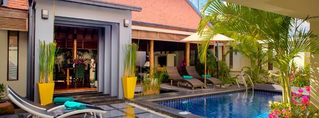 An elegantly designed tropical villa