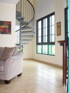 Spiral Stairs Lead to the Loft