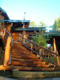 MASSIVE LOG STAIRS