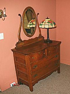 2nd Bedroom with Antique Oak Dresser