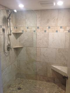 our new Master Bathroom shower remodel