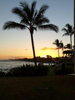 Kauai sunset from Beach House restaurant next door.