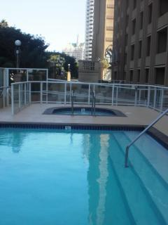 Pool and Jacuzzi, enjoy the city lights while soaking in the hot tub!